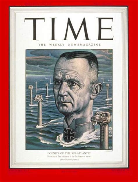 TIME Magazine Cover: Admiral Karl Doenitz - May 10, 1943